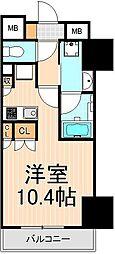 東京都台東区寿3丁目の賃貸マンションの間取り