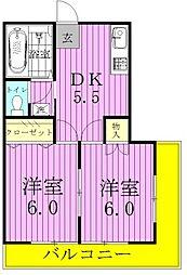 ハイツプレステージ[1階]の間取り