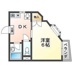 サクセス16 1階1DKの間取り