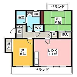 セピアコート中田[1階]の間取り