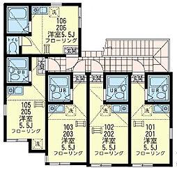 ユナイト 寺前コーラルコースト[2階]の間取り