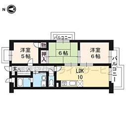 サニークレスト祥山[1階]の間取り
