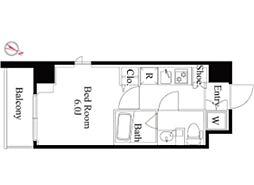 京王線 笹塚駅 徒歩4分の賃貸マンション 3階1Kの間取り