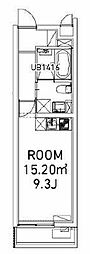 ファビオ東大前 1階ワンルームの間取り