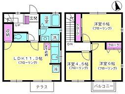 [テラスハウス] 神奈川県厚木市岡田5丁目 の賃貸【/】の間取り