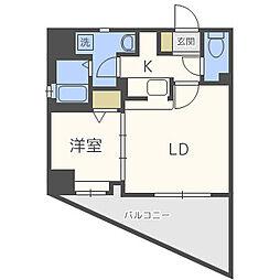 エンクレスト平尾II[7階]の間取り