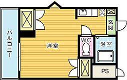K−2西小倉ビル[706号室]の間取り