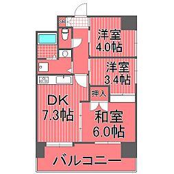 ライオンズマンション戸部[2階]の間取り