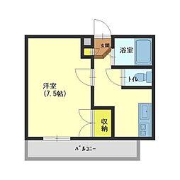 オレンジハウス奥田[207号室]の間取り