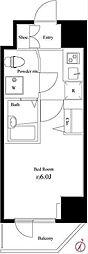 ハーモニーレジデンス池袋3[304号室]の間取り