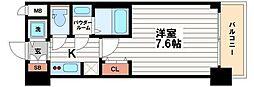 大阪府大阪市中央区本町橋の賃貸マンションの間取り