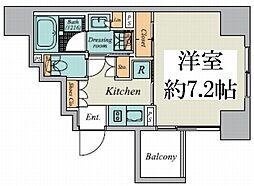 東京メトロ丸ノ内線 御茶ノ水駅 徒歩9分の賃貸マンション 3階1Kの間取り