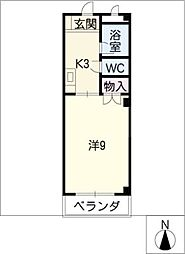 ウッドベル[4階]の間取り