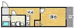 casa御殿山II[303号室]の間取り