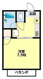 愛知県豊田市宮口町1丁目の賃貸アパートの間取り