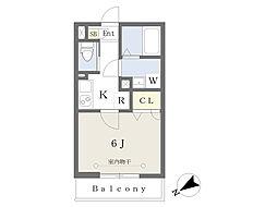 東京メトロ副都心線 池袋駅 徒歩12分の賃貸アパート 2階1Kの間取り
