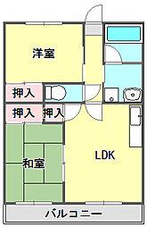 メゾン武庫之荘3番館[2階]の間取り