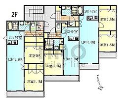 テラス久里浜II[2階]の間取り