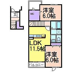 ミニョン723 B棟[2階]の間取り