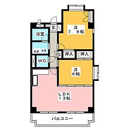メゾンラ・メール[2階]の間取り