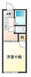 エクセル習志野[2階]の間取り