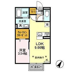 (仮)D-room西新井町[201号室]の間取り