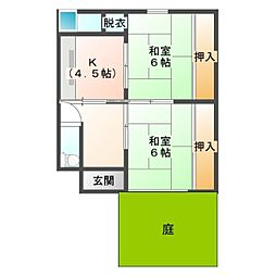 [一戸建] 熊本県荒尾市大平町2丁目 の賃貸【/】の間取り