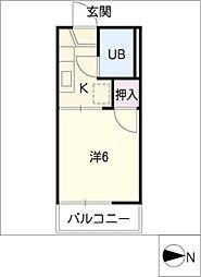 ドミールM[1階]の間取り