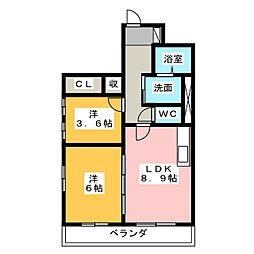 ベナレス藤枝[6階]の間取り