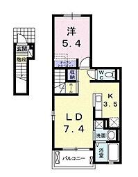ラスパシオ[2階]の間取り