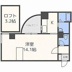 北海道札幌市中央区南一条東7丁目の賃貸マンションの間取り
