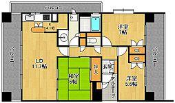 ヒルズ夙川パッサージュ[]の間取り画像