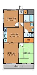 東京都三鷹市新川2丁目の賃貸マンションの間取り