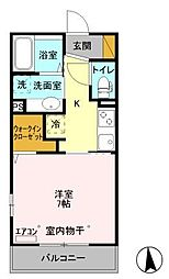D−room真間[1階]の間取り