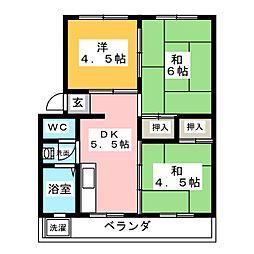 岡崎マンション[4階]の間取り