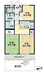 ライオンズマンション市川本八幡[1階号室]の間取り