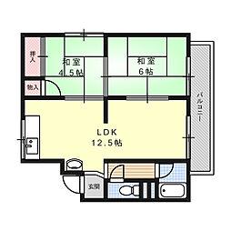 木下第二マンション[3階]の間取り