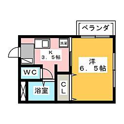 C'sテラス[2階]の間取り