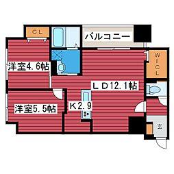 F006[3階]の間取り