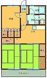 塚田マンション[303号室]の間取り