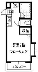東京都台東区谷中2丁目の賃貸マンションの間取り