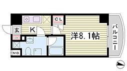 兵庫県神戸市灘区岩屋南町4丁目の賃貸マンションの間取り