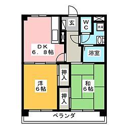 ステップ井上[3階]の間取り