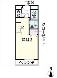 Avenir K[1階]の間取り