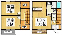 [テラスハウス] 東京都東大和市向原5丁目 の賃貸【東京都 / 東大和市】の間取り