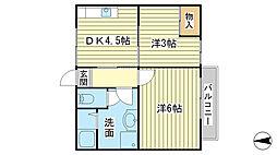 吉田荘[205号室]の間取り