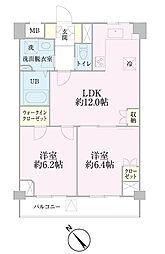中新井サンライトマンション[207号室]の間取り