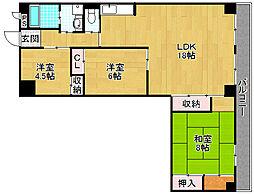 ハイツ昴2番館[3階]の間取り