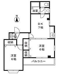 ソレイユ欅[2階]の間取り