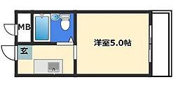 東京都杉並区荻窪2丁目の賃貸マンションの間取り